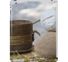 old wooden container iPad Case/Skin