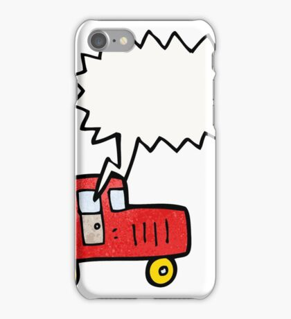 child's drawing of a car iPhone Case/Skin