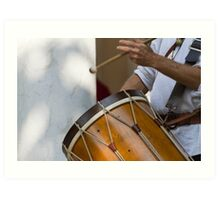 dances and dances with drum and bagpipe Art Print