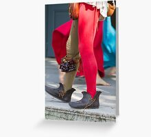 dances and dances with drum and bagpipe Greeting Card