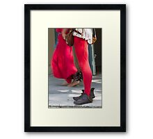 dances and dances with drum and bagpipe Framed Print