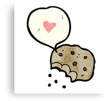 i love cookies cartoon Canvas Print