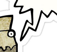 cartoon cardboard box monster Sticker