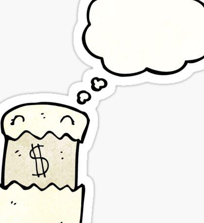 cartoon financial  Sticker