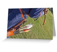 man with arrows Greeting Card