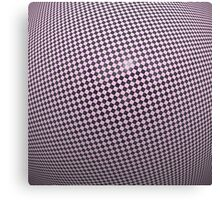 Distorted violet checkered background Canvas Print