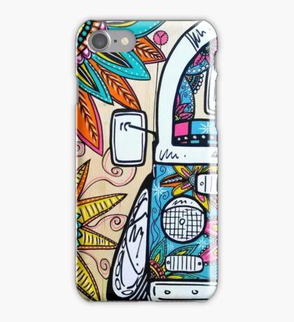 Bay Window Camper Van Zentangle Dubtastic Colour  iPhone Case/Skin