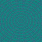 Aurora Radial Kaleidescope In Teal and Aqua by taiche