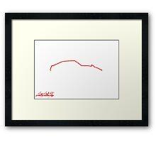 Mazda RX-7 FB Framed Print