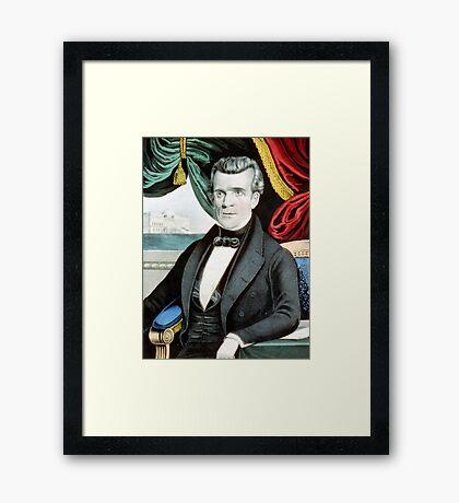 James K. Polk - eleventh president of the United States - 1850 - Currier & Ives Framed Print