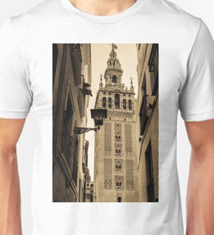 Seville - The Giralda in Sepia Tones Unisex T-Shirt