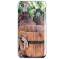 old wooden container iPhone Case/Skin