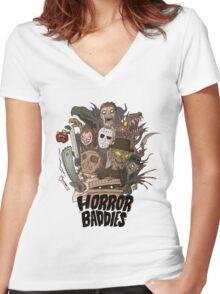 Horror Baddies Women's Fitted V-Neck T-Shirt