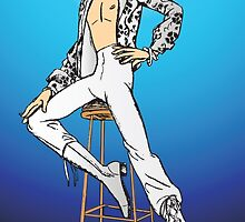 Ziggy Stardust in blue by Lauren Eldridge-Murray