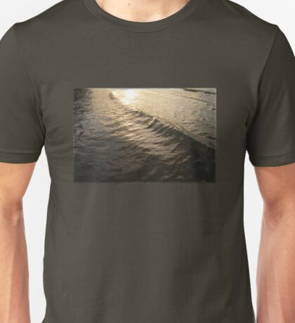 Waves of Sparkling Gold Unisex T-Shirt