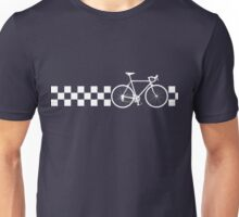 Bike Stripes Peugeot (White Retro) Unisex T-Shirt
