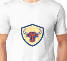 Angry Bull Head Crest Retro Unisex T-Shirt