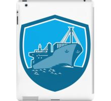 Container Ship Cargo Boat Shield Retro iPad Case/Skin