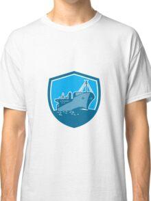 Container Ship Cargo Boat Shield Retro Classic T-Shirt