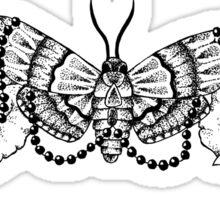 Elegance Floral Moth Sticker