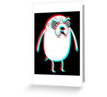 DAZED AND JAKED.  Greeting Card