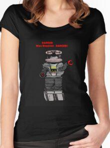 Danger Will Robinson, Danger! Women's Fitted Scoop T-Shirt
