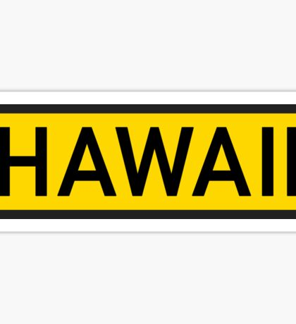 Hawaii Y Sticker