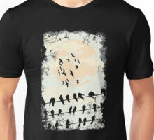 Birds on the wire Unisex T-Shirt