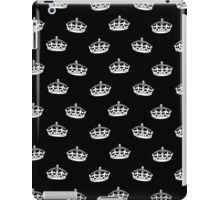 HM crown wallpaper black on white iPad Case/Skin