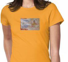 Buddha Collage - JUSTART ©  Womens Fitted T-Shirt