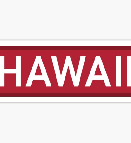 Hawaii R Sticker