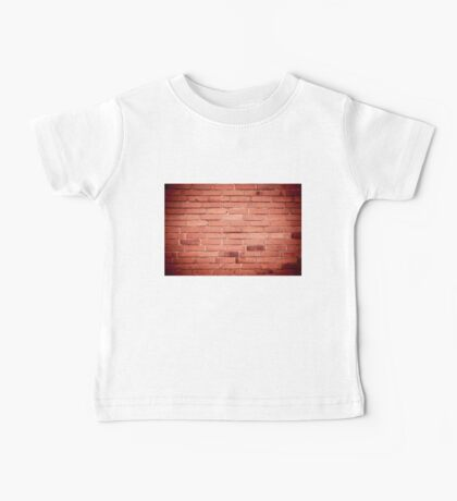 Red bricks wall abstract with dark vignette Baby Tee