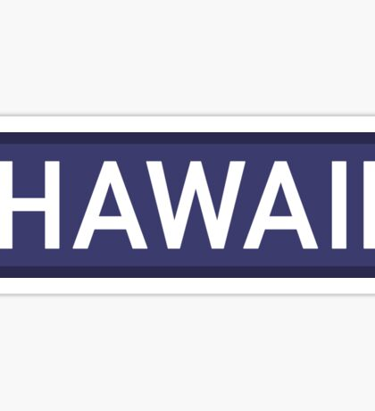 Hawaii B Sticker