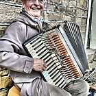 West Yorkshire Street Accordion Player by Mike Honour