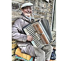 West Yorkshire Street Accordion Player Photographic Print