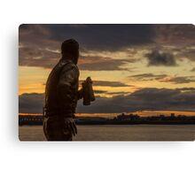 Captain Walker at the Liverpool Pier Head Canvas Print