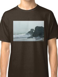 San Francisco Fog - Golden Gate Bridge Emerging from the Milky Mists Classic T-Shirt
