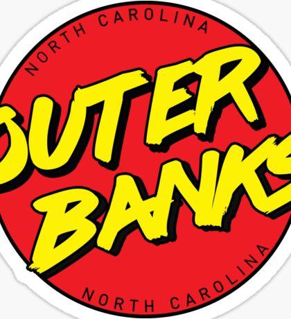 Outer Banks NC Retro Sticker