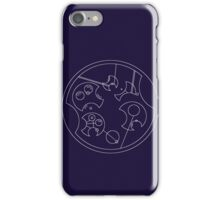 """I Don't Shave For Sherlock Holmes"" Circular Gallifreyan (White) iPhone Case/Skin"