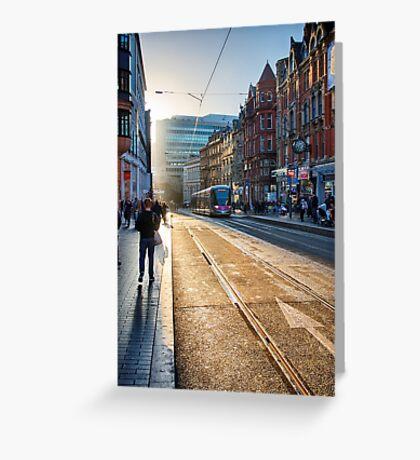 Corporation Street, Birmingham, UK. Greeting Card