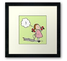 Kazart Smiley Dream Framed Print