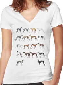 Galgo Colours Women's Fitted V-Neck T-Shirt