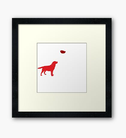 FUNNY WINE QUOTE AND DOG for gift Framed Print