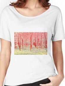 Autumn woods color electric Women's Relaxed Fit T-Shirt