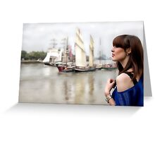 A day out in Greenwich - Tall masted ships Greeting Card