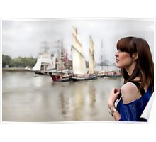 A day out in Greenwich - Tall masted ships Poster