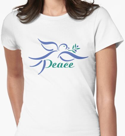Peaceful Dove Womens Fitted T-Shirt