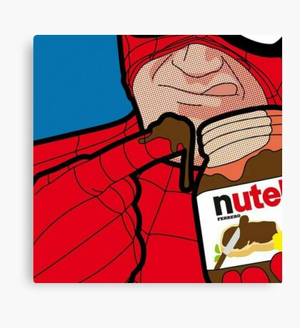 Nutella - The Secret Life of Hereos - Spiderman Canvas Print