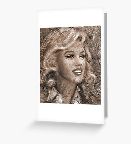 MM Ice Sepia Greeting Card