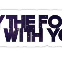 May the Force Sticker
